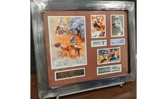 Peyton Manning Denver Broncos Superbowl 50 Champion Signed Framed Career Photo Collage in 16x20 biding ends in 11 days #bidforcharity #dogood #charityauction