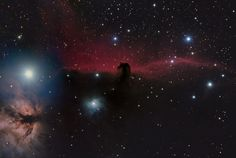 Shishir & Shashank Dholakia of the United States depicted the familiar red glow that seems to flow from behind the horsehead, created by hydrogen gas ionized by neighboring stars. Read the Full Story Here.