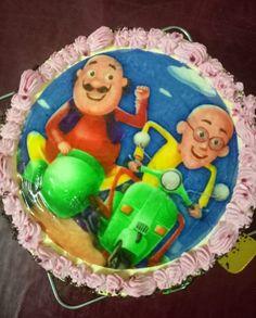 Happy Birthday Motu Patlu Cute Kids Cake With Your Nam Ranbir