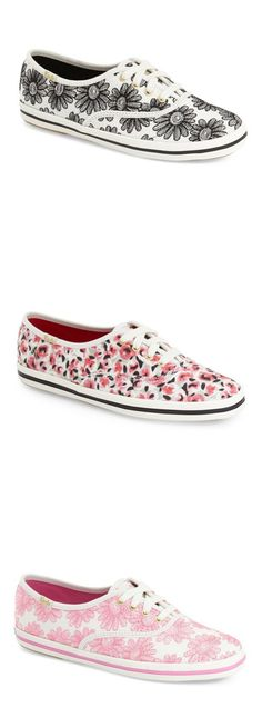 Adding Kate Spade charm to classic Keds for a cheery and feminine look.