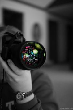 camera peopl, touch, colour splash, art, camera lens
