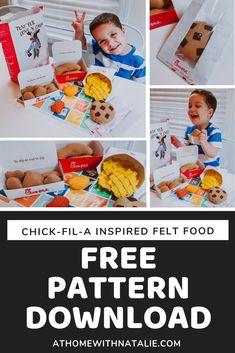 Felt Diy, Felt Crafts, Felt Food Patterns, Toddler Teacher, Free Pattern Download, Felt Play Food, Dramatic Play, Creative Play, Felt Ornaments