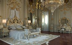 Royal Italian Classic Bedroom in Gold Finish for all pictures of this set check @ this link http://www.classicalinterior.com/listing/royal-gold-bedroom-set-carved-with-king-size-bed/