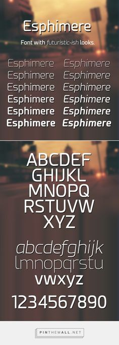 New Futuristic Free Fonts for Designers | Esphimere Free Font | Graphic Design Junction - created via https://pinthemall.net