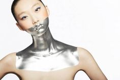 Photographer Pascal Demeester captures this futuristic conceptual beauty look.