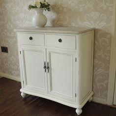 Cottage Cream Range - Two Drawer Cupboard Storage Cabinet