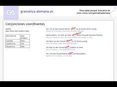 Conjunciones coordinantes en alemán.