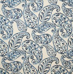 Blue color Foliage and Scroll and Paisley pattern Prints type Upholstery Fabric called Bluebell by KOVI Fabrics Paisley Fabric, Paisley Pattern, Blue Fabric, Paisley Print, Paisley Design, Floral Fabric, Drapery Fabric, Fabric Decor, Fabric Design
