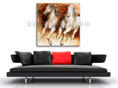 Beautiful 1-panel Giclee high-resolution canvas print with horse in contemporary style. It is available in numerous sizes to fit any size room!