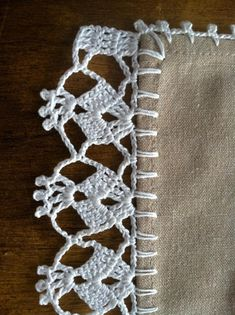 Hardanger crochet patchwork cover with delicate floral ornaments Crochet Border Patterns, Crochet Lace Edging, Crochet Motifs, Crochet Doilies, Crochet Flowers, Crochet Stitches, Knit Crochet, Crochet Tablecloth, Crochet Projects