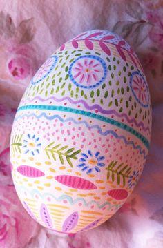 Nantucket Mermaid: Hand Painted Easter Egg