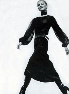 Saint Laurent by Bailey, model Ingrid Boulting ,Vogue 1971