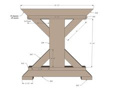 Ana White | Build a Fancy X Farmhouse Bench | Free and Easy DIY Project and Furniture Plans