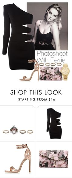 """""""Photoshoot with Perrie"""" by lovatic92 ❤ liked on Polyvore featuring Lulu*s, Balmain, River Island, Urban Expressions, Michael Kors, littlemix, perrieedwards, photoshoot, perrieedwardsstyle and Mixer"""