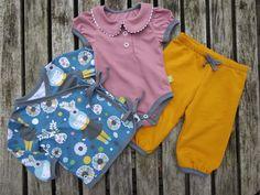 """Lillestoff """"Wintermädchen"""" vernäht von Pauline Dohmen von Klimperklein. Baby Makes, Winter, Rompers, Sewing, Austria, How To Make, Germany, Dresses, Fashion"""