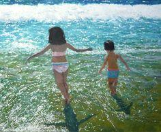 cuadro de una escena de playa