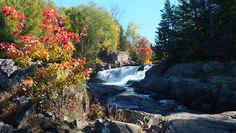 This picture was taken at Marshes Falls, on the Oxtongue River, near Dwight, Ontario