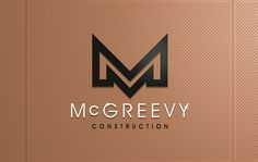 New McGreevy Constuction Branding. Calm, Branding, Creative, Artwork, Projects, Log Projects, Brand Management, Work Of Art, Brand Identity