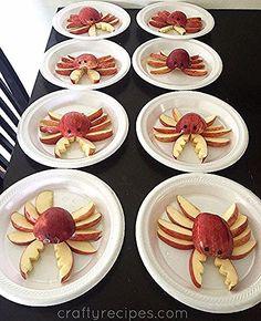 Apple crab snacks pro kids - crafty recipes - # apple # for . - Fingerfood Kinder - Apple Crab Snacks Pro Kids – Crafty Recipes – # Apple # For …, - Cute Snacks, Snacks Für Party, Fun Snacks For Kids, Cute Food, Good Food, Funny Food, Lunch Kids, Kid Snacks, School Lunch