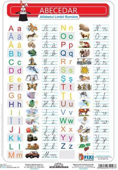 Alfabetul cu liniatura tip 1 DUO - plansa de perete pe Compari. Alphabet Writing, Preschool Writing, Preschool Learning Activities, Animal Activities For Kids, Math For Kids, Fun Math, Kids Math Worksheets, Cursive Letters, Vintage School