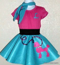 Adorable Toddler 12-18mos Ready to Ship 4pc LuLu poodle skirt outfit rts-19