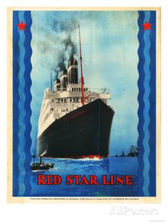 Red Star Lines, Cruise Ships, Ocean Liners, USA, 1930 Prints at AllPosters.com