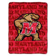 Maryland Terps NCAA Micro Raschel Blanket (Grunge Series) (46in x 60in)