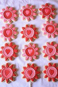 Sunflower Valentine Cookies