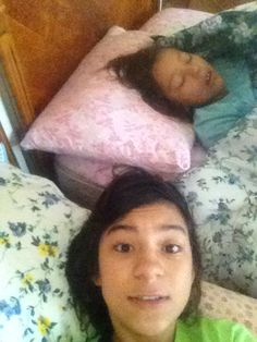 She is sleep