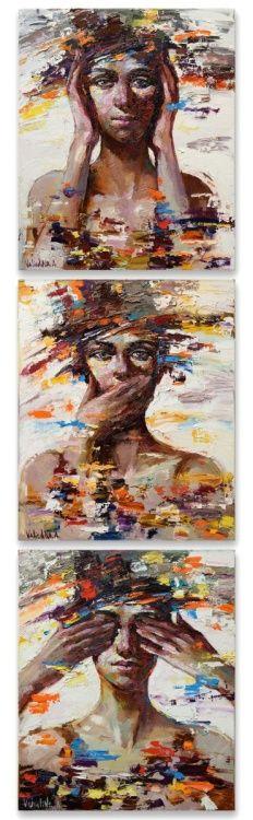 Art, Artwork, Oil Painting, Canvas, Girl