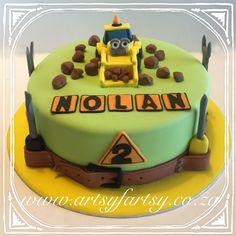 Construction Cake #constructioncake Construction Cakes, Motorbike Cake, Cupcake Cakes, Cupcakes, Cakes For Boys, Truck, Birthday Cake, Car, Desserts