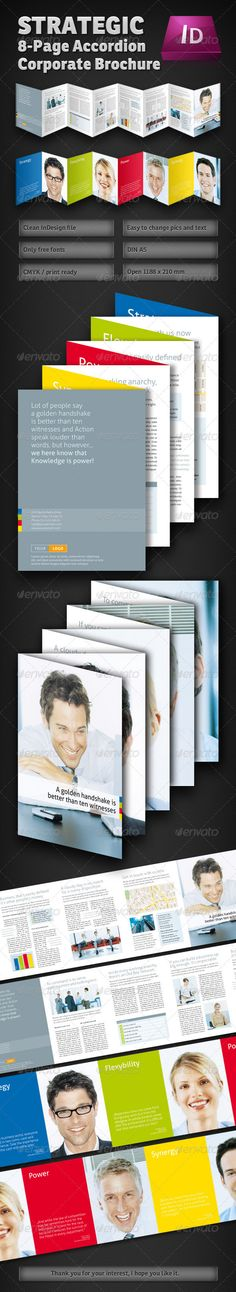 Strategic 8Page Accordion Fold Brochure — InDesign INDD #print #high-end
