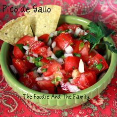 Pico de Gallo. Super Bowl Recipe