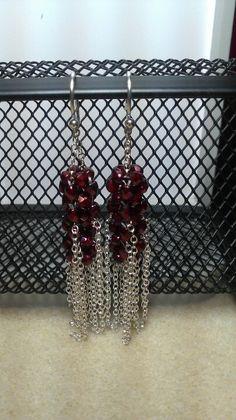 Bohemian earrings - design by Jill Wiseman, made by Jazzy Jewelry