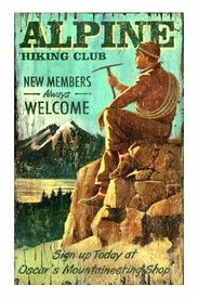 Maker of custom wooden vintage signs. Each of our signs is a reproduction of an original that was designed and hand painted by one of our artists. Vintage Wood Signs, Antique Signs, Vintage Ski, Vintage Travel Posters, Wooden Signs, Vintage Style, Hiking Club, Flora, Old Signs