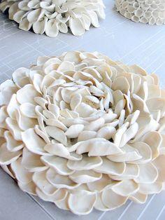 polymer clay flower sculpture from aschwer (etsy) http://www.etsy.com/shop/aschwer #crafts #art #petals