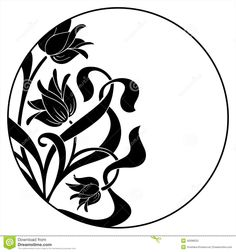 Round Frame With Floral Ornament Stock Vector - Image: 49398252