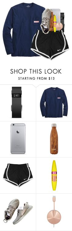 """bout to go on a walk."" by ellaswiftie13 ❤ liked on Polyvore featuring Fitbit, Vineyard Vines, NIKE, Maybelline and Frends"