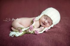 Rapunzel Rose Hat by CrochetMyLove -- If any of my friends crochet, please make me one of these!  It's so adorable and I would like to have my baby in it!!!
