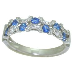 Sapphire Ring with 0.15 cttw. Diamonds https://www.goldinart.com/shop/rings/colored-gemstone-rings/sapphire-ring-with-0-15-cttw-diamonds