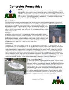 Concretos permeables