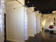 Dressing Rooms: Height of Curtain Rod 210cm-215cm from the floor; Gap from floor to the bottom of curtain 25cm-30cm.
