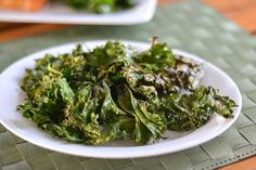 Baked kale chips are a healthier alternative to potato chips. This baked kale chips recipe is so simple. All you need is olive oil and some seasoning.