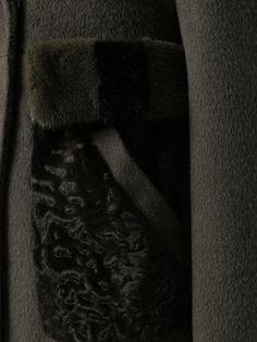 Купить Blancha mink fur detail coat.