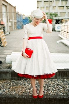 TOP 45 TEA-LENGTH WEDDING DRESS WITH COLOR