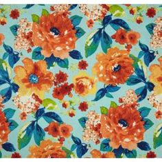 Floral Emma in Celestial Outdoor Home Decor Fabric | Fabric Traders
