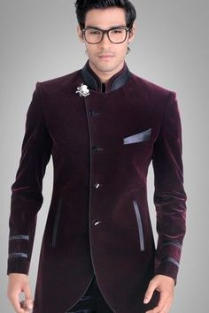 Johdpuri Suit/Indowestern suit. I may be white, but I love the fusion of Desi…