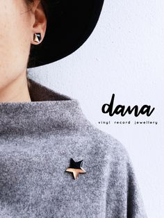 The copper dipped vinyl record star pin is a great addition to your wardrobe. Unique contemporary jewelry by DANA, designed and handcrafted in Ireland. Next day shipping. Boho Fashion, Womens Fashion, Minimal Fashion, Vinyl Records, Jewelry Collection, Boho Chic, Ireland, Handmade Jewelry, Metallic