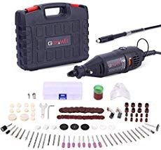 GOXAWEE Rotary Tool Kit with MultiPro Keyless Chuck and Flex Shaft - Accessories Variable Speed Electric Drill Set for Crafting Projects and DIY Creations * Inspect out this terrific product. (This is an affiliate link). Dremel 3000, Dremel Trio, Dremel Set, Mini Goldendoodle, Bead Storage, Jewellery Storage, Accessoires Dremel, Mini Cheesecakes, Gifs