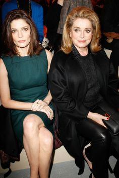 Chiara Mastroianni and Catherine Deneuve. Louis Vuitton | Fall 2014 Ready-to-Wear Collection | Style.com